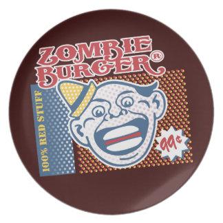 Zombie Burger Party Plates