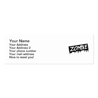 Zombie Business Cards