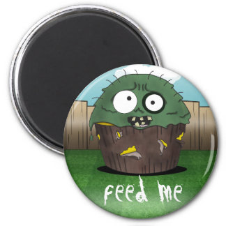 Zombie Cake - Feed Me 2 Inch Round Magnet