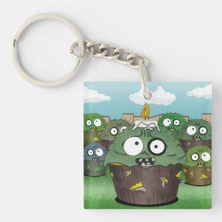 Zombie Cake Invasion Keychain