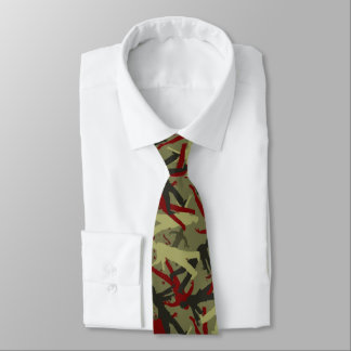 Zombie Camo Pattern Neck Tie