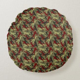 Zombie Camo Pattern Round Pillow