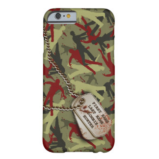 Zombie Camo w/ dog tags Barely There iPhone 6 Case