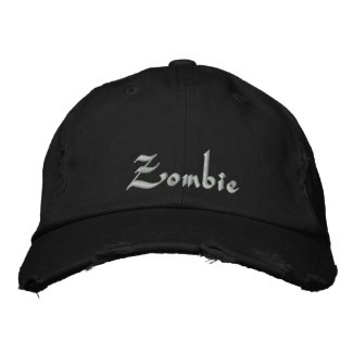 Zombie Cap / Hat Embroidered Hats