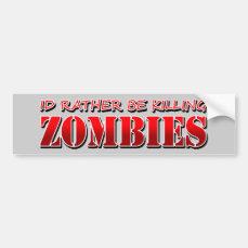 Zombie Car Bumper Sticker