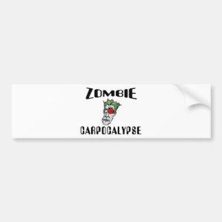 Zombie Carpocalypse Bumper Sticker