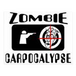Zombie Carpocalypse Hunting Postcard