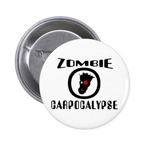 Zombie Carpocalypse Symbol Button