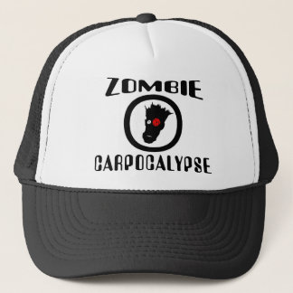 Zombie Carpocalypse Symbol Trucker Hat
