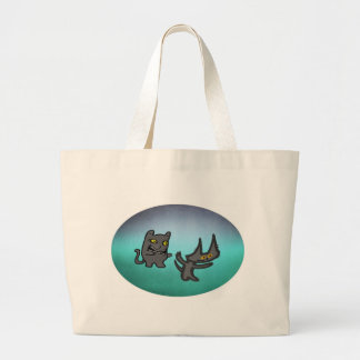 Zombie Cat And His Ghost Friend Tote Bags