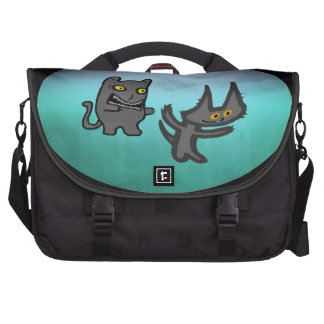 Zombie Cat And His Ghost Friend Laptop Commuter Bag