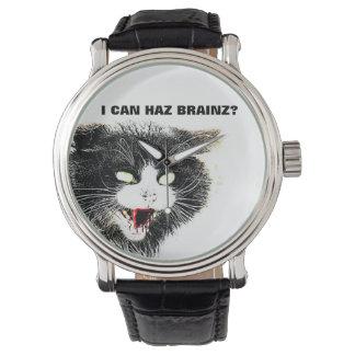 Zombie Cat I Can Haz Brainz Watch