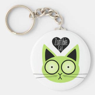 Zombie Cat Keychain