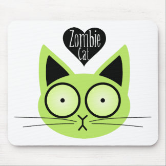 Zombie Cat Mouse Pad