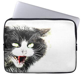 Zombie Cat Neoprene Laptop Sleeve
