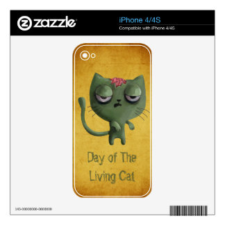 Zombie Cat Skin For The iPhone 4