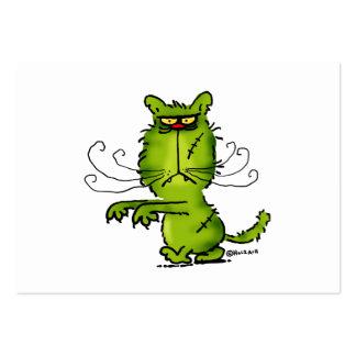 Zombie-Cat Visitenkarten Vorlage