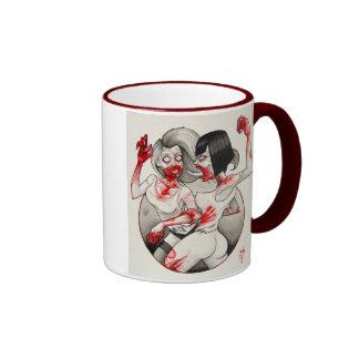 """Zombie Catfight!"" Ringer Coffee Mug"