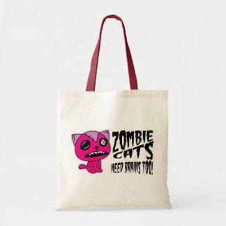 Zombie Cats need Brains Too! Tote Bags