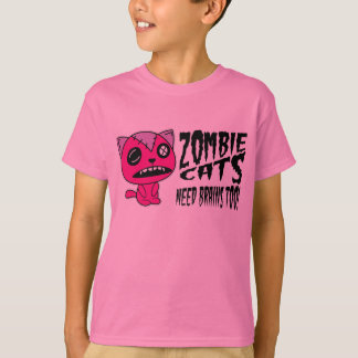 Zombie Cats need Brains Too! T-Shirt