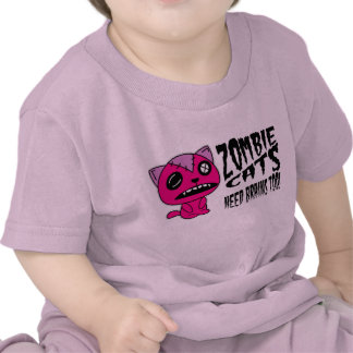 zombie Cats need Brains Too! Tee Shirt