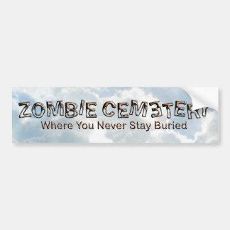 Zombie Cemetery - Basic Car Bumper Sticker