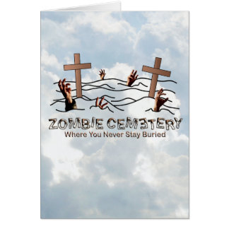 Zombie Cemetery - Basic Greeting Card