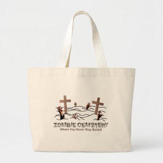 Zombie Cemetery - Basic Jumbo Tote Bag