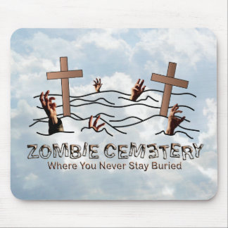 Zombie Cemetery - Basic Mouse Pad