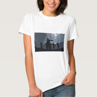 Zombie Chase in the Forest T-Shirt