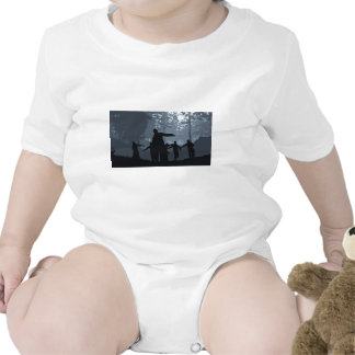 Zombie Chase in the Forest Baby Bodysuits