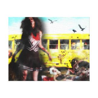 Zombie Cheerleader attack Canvas Print