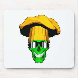 Zombie Chef Skull v11 Mouse Pads