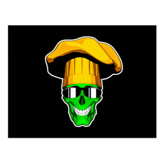 Zombie Chef Skull v11 Postcard