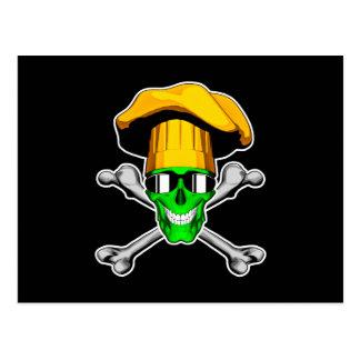 Zombie Chef Skull v12 Postcard