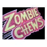 zombie chews postcards