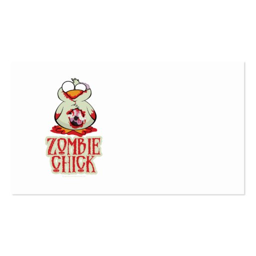 Zombie Chick Double-Sided Standard Business Cards (Pack Of 100)