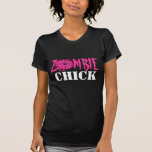 Zombie chick tee shirt for women and girls