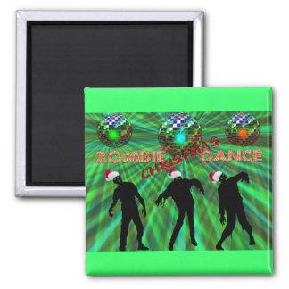 Zombie Christmas Disco Dance Magnet