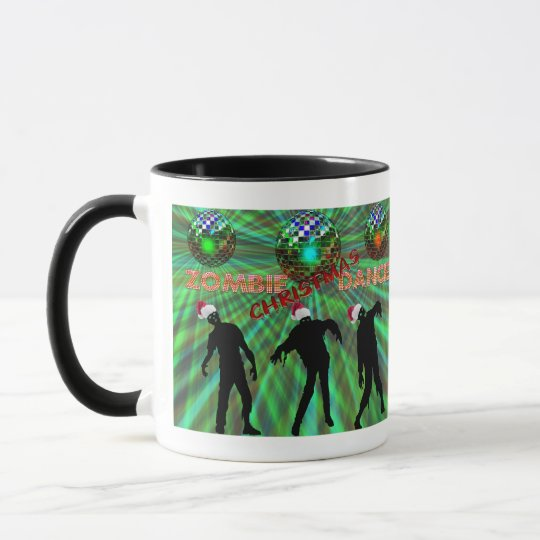 Zombie Christmas Disco Dance Mug
