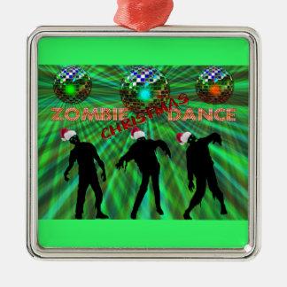 Zombie Christmas Disco Dance Christmas Ornaments