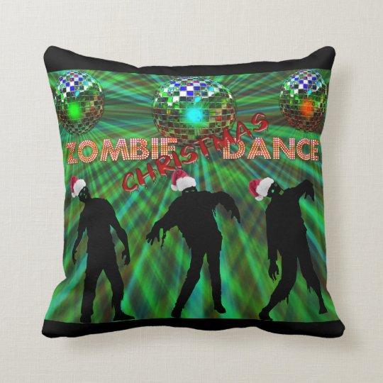 Zombie Christmas Disco Dance Throw Pillow