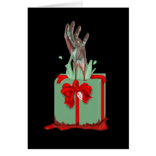 zombie christmas greeting cards