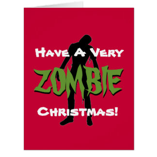 ZOMBIE Christmas Holiday Giant Greeting Card