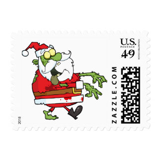 Zombie Christmas Santa funny personalized Postage