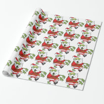 Zombie Christmas Santa funny Wrapping Paper