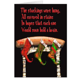 zombie christmas stockings card