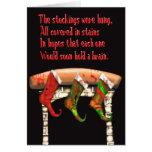 zombie christmas stockings greeting cards