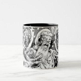 Zombie Christmas Two-Tone Coffee Mug