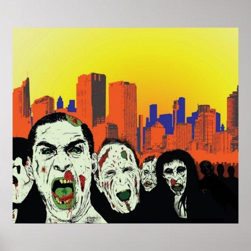 zombie city print